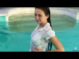 The best wetlook compilation from the the web very sensual lady's swimming fully clothed 4