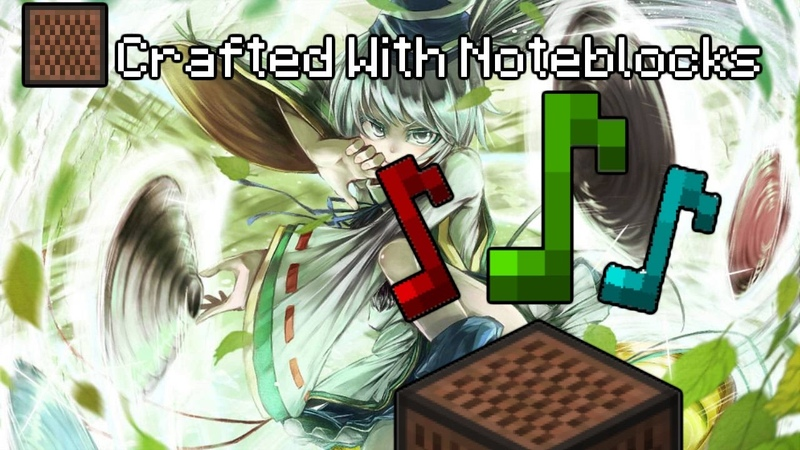 【17w17a / MC 1.12】Omiwa Legend - Note Block Song - Touhou 13 【New Note Block Sounds】