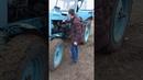Запуск трактора мтз 80, подрастающее поколение.