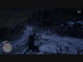 This griefer relentlessly hunted me into the mountains, all I had equipped was my bow... a bow and some god damn faith. Red Dead