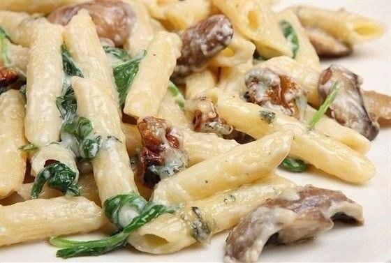Паста с грибами и курицей Ингредиенты: макароны - 400
