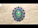 Beaded bezel tutorial: how to bezel an oval cabochon with Peyote Stitch | Beading tutorial
