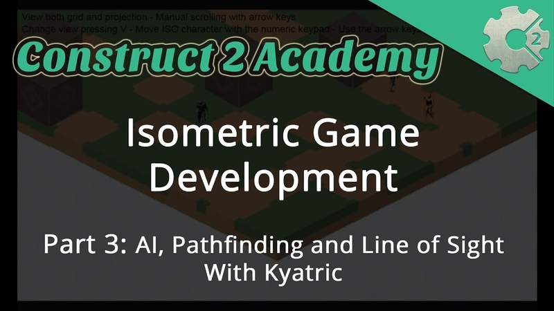 Isometric Game Development Part 3: AI, Pathfinding and Line of Sight - with Kyatric