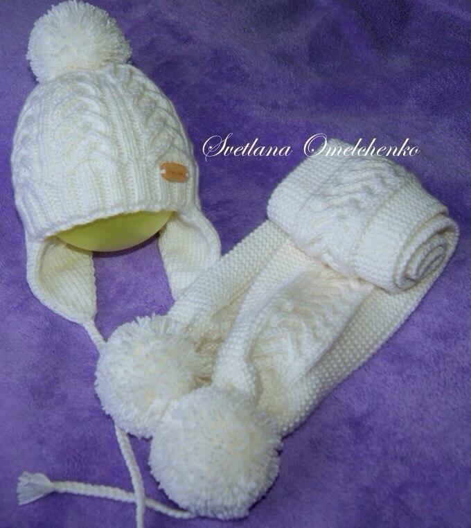 Вязание детские двойные шапочки
