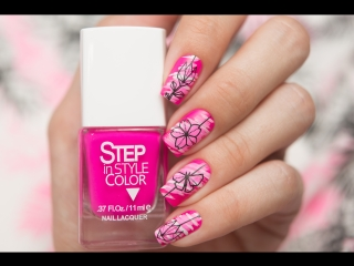 Step – Матовый розовый дизайн ногтей