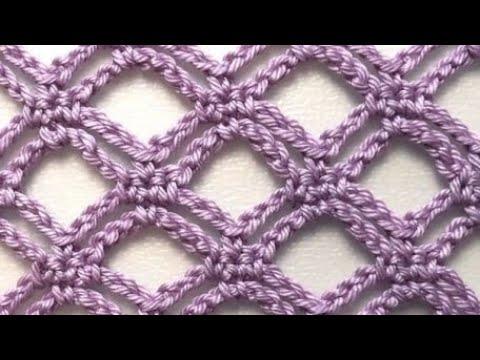 Sadece zincir ile yapılan super model crochet easy pattern stitch tutorial