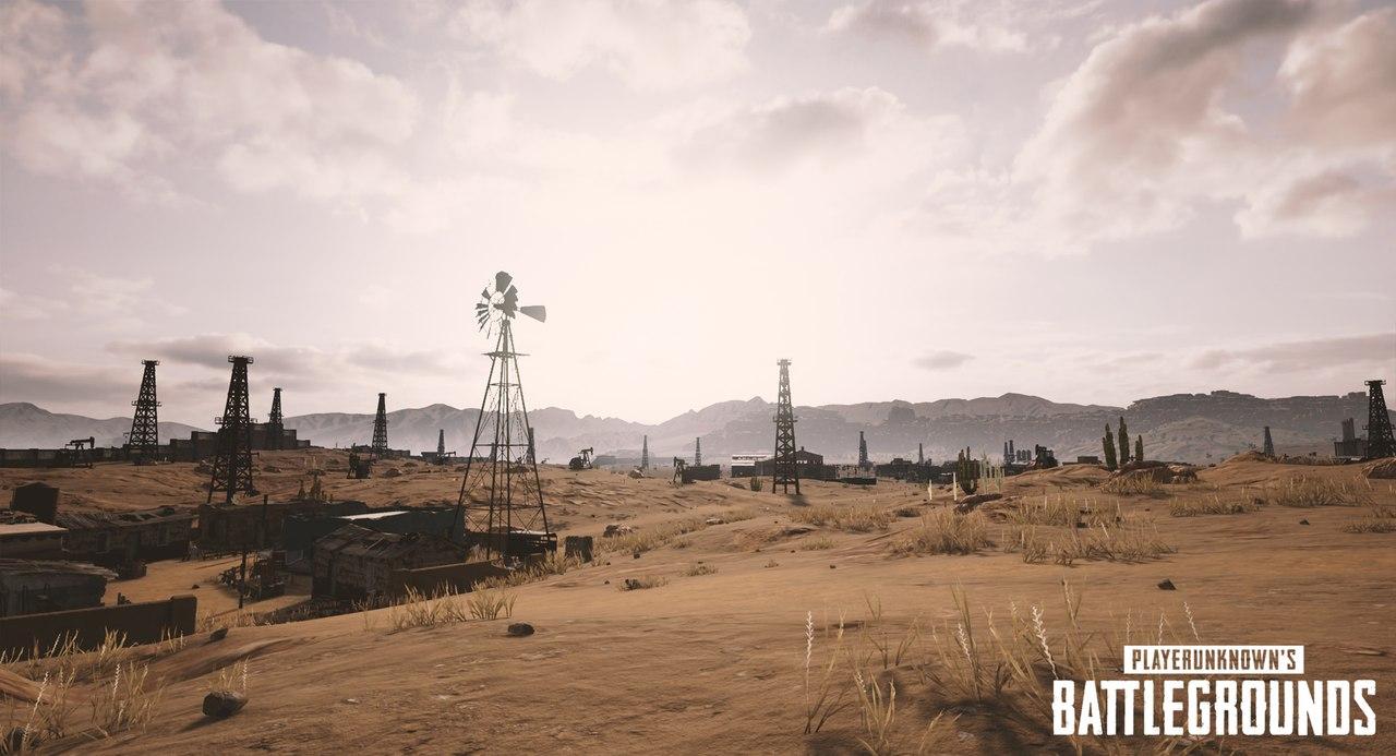 Еще серия скриншотов новой пустынной карты PUBG