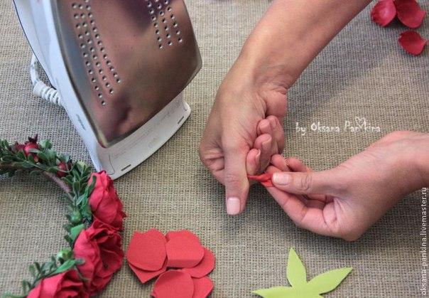 Плетём венок из цветов своими руками