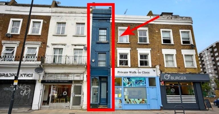 В Лондоне продается самый узкий дом. И он просто офигенный!