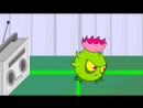 Битва в Саду Дзен Растения против Зомби Мультфильм Plants vs. Zombies Cartoon 6