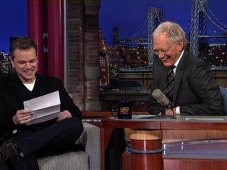 David Letterman - George Clooney's Prank on Matt Damon, Tina Fey and Amy Poehler