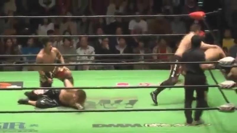 Hajime Ohara, Hitoshi Kumano vs. Daisuke Harada, HAYATA (NOAH - Global Tag League 2018 - Day 5)