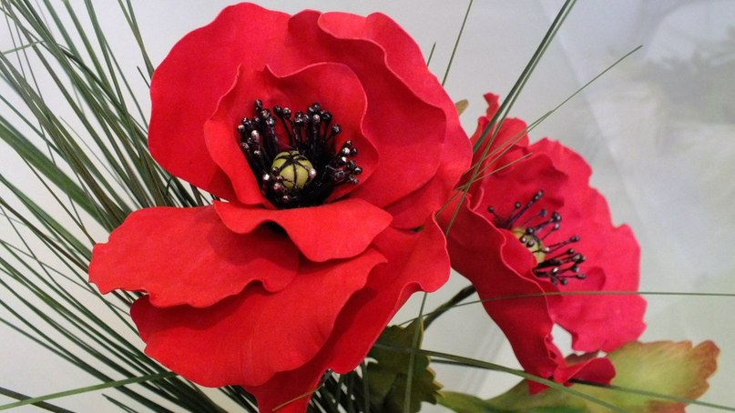 Цветы своими руками из замши
