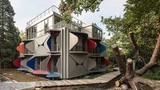 Facades of Zurich apartment block unfold to form balconies and sunshades