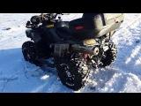 Stels ATV 800 D Динли  в снегу!