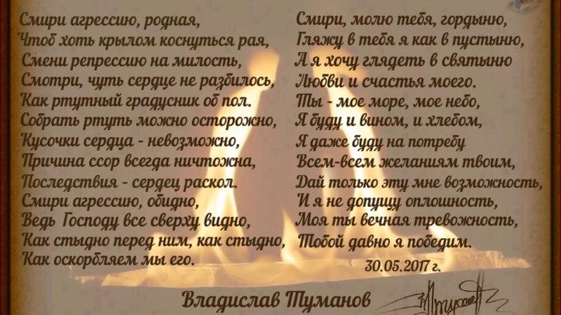 Владислав Туманов - Смири агрессию родная (читает Игорь Ильин)