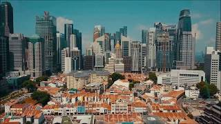 Drone over Toa Payoh Chinatown Singapore