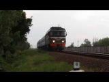 Тепловоз ТЭП60-0836 с поездом №614 Солигорск - Могилёв