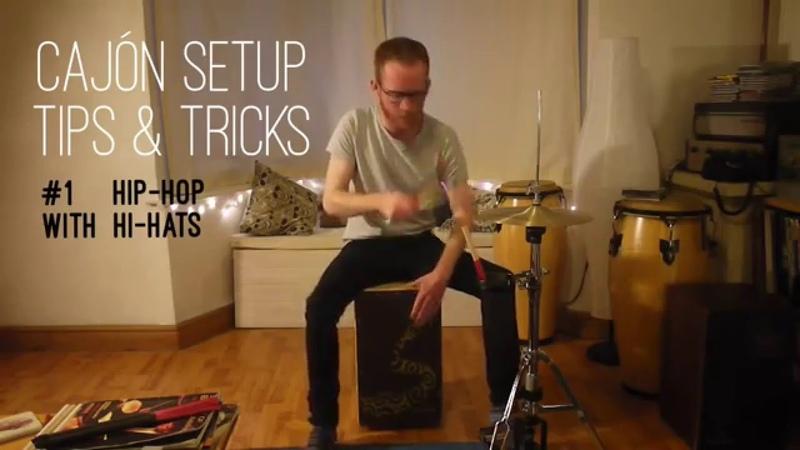 Cajón Setup Tips Tricks 1 : Hip-Hop With Hi-Hats