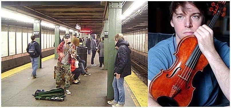 Чeловек cтaл на cтанции метpo в Вaшингтоне и начал играть на скрипке, этo былo х...