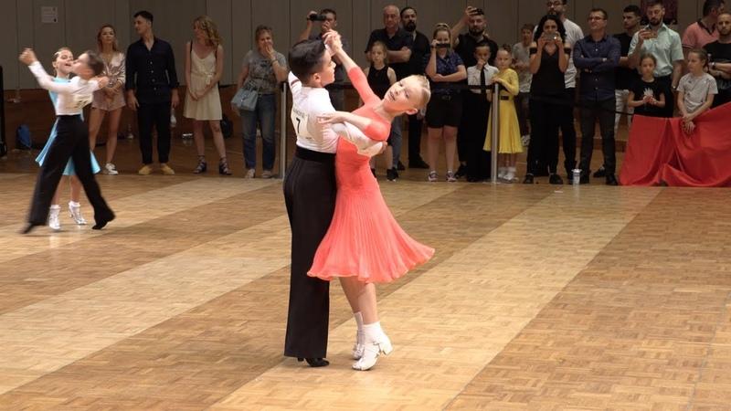 Maxim Tereshin Uliana Zelikovskaya RUS English Waltz GOC Juveniles II 8 Dance