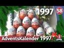 Адвент календарь 1997. Распаковка раритетных киндер сюрпризов. Часть 1