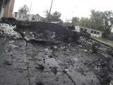 Луганск, Новосветловка, уничтоженные ополченцами ураганом танки Украинской армии.