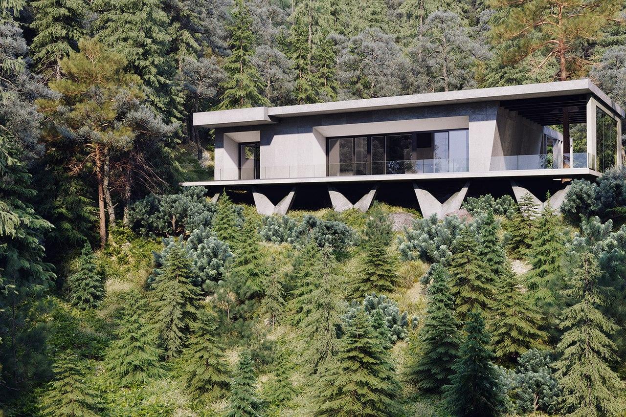 Дом в стиле Модернизм