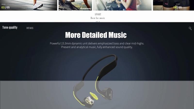 "BOROFONE BE16 ""Pulsing"" Bone Conduction headphone, Sports Wireless Bluetooth Earphone"