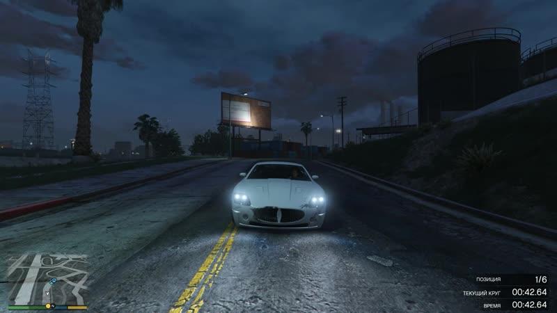 Grand Theft Auto V by z0c Самая первая гонка в игре Ультра настройки качества графики