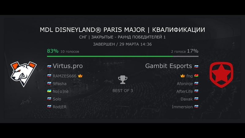 Dota 2 4k Virtus.pro - Gambit MDL Disneyland® Paris Major | Квалификации (Ryzen 2600x GTX 1080ti)