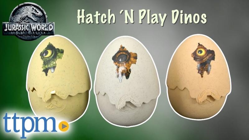 Jurassic World Hatch 'N Play Dinos Triceratops, Tyrannosaurus Rex, Stygimoloch Stiggy from Mattel