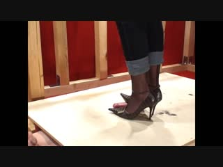 Julias heels cock trample footjob  shoejob  heeljob  foot fetish