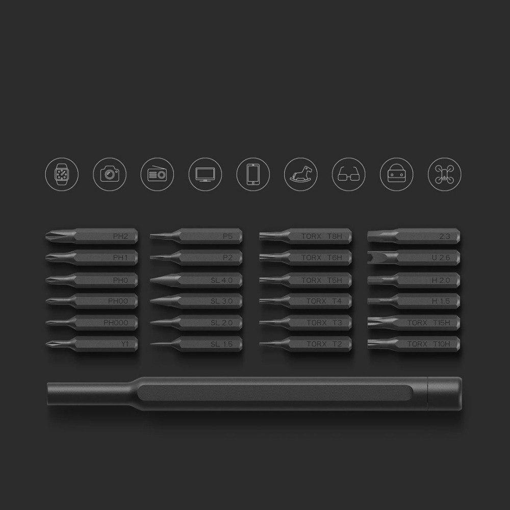 Качественная отвертка со сменными битами Xiaomi Mi Wiha для ремонта бытовой техники - 24 биты