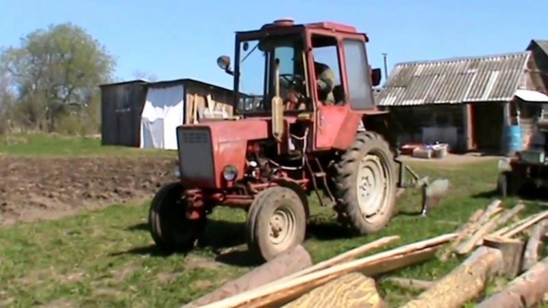 Нагонка боровков под картошку на тракторе МТ 30 с самодельным плугом