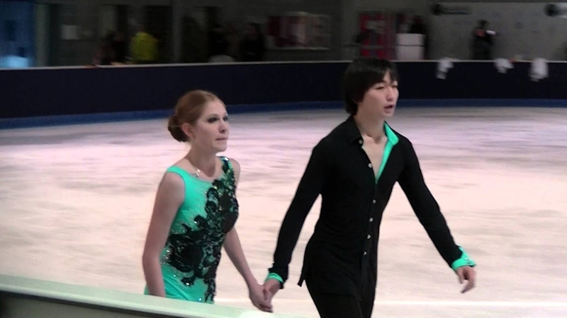 Anastasiia KHROMOVA Daryn ZHUNUSSOV practice FD NRW Trophy 2015