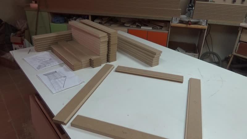 Процес изготовления рамочных фасадов 3 этап.