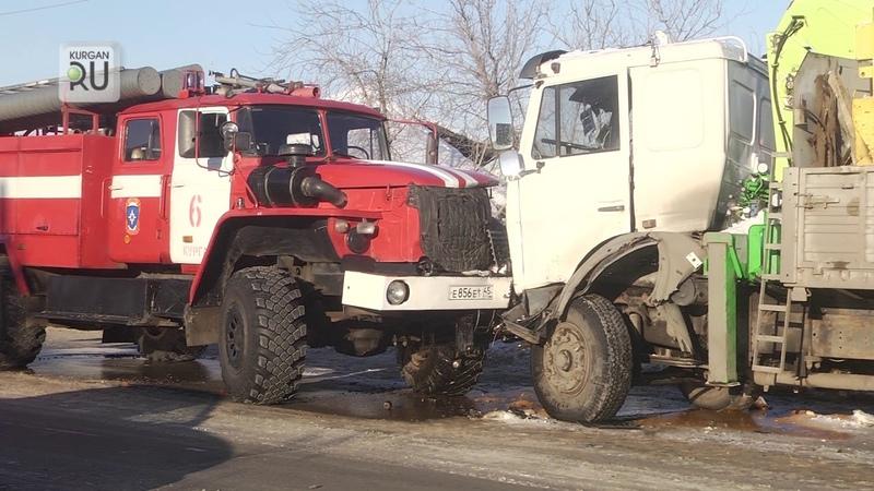 Большегруз «Маз» не пропустил пожарный автомобиль, ехавший на ДТП