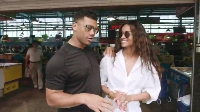A visit to Hangzhou China for @DangeRussWilson and @ciara includes meetings with Alibaba execs, trying out @Alipay and, of cours