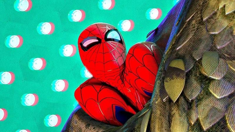 Человек паук против Зеленого Гоблина и Бродяги Человек паук Через вселенные 2018