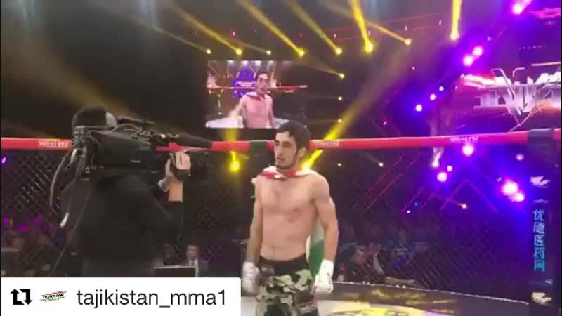 Repost @sport in tajikistan1 @get repost ・・・ Победаааааааа 🎉🎊🎊🎊 Фирдавс Зарипов боец клуба Ахмат Таджикистан выиграл