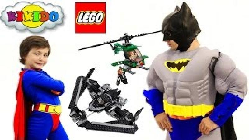 Лего Бэтмен против Супермена 76046. Битва Супергероев в небе. Обзор и сборка конструктора. Кикидо
