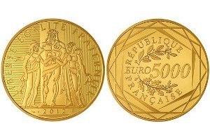 Удивительные и дорогие монеты евро. монеты, нумизматика, 5 тысяч евро, Геракл