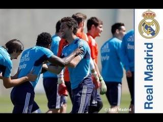 El Real Madrid completó el cuarto entrenamiento de la semana