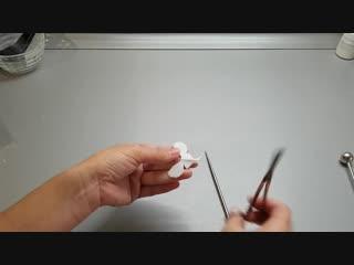 Мк орхидея из полимерной глины. сборка бабочки (губы) без вайнера