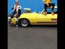 Ариана и Кортни на съёмках видео 'LOCO'. Паблик: sunshine ariana.