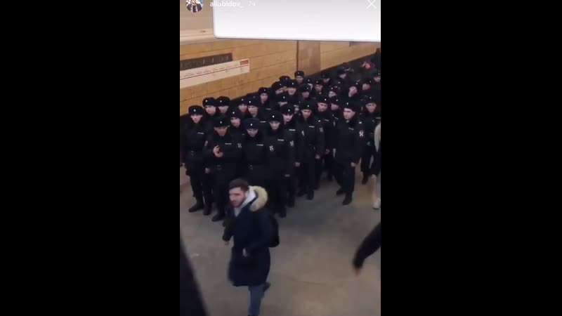 реакция будущих гвардейцев