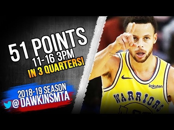 Stephen Curry UNREAL 51 Pts