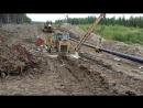Опуск 426х10 в траншею(танки грязи не боятся)