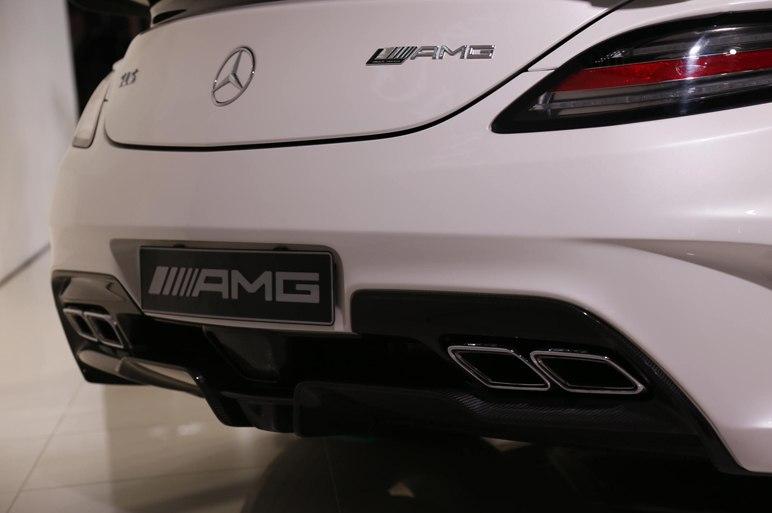 Выхлоп Mercedes SLS AMG 2013